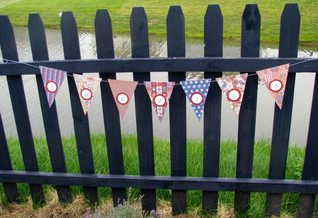My sister made this bunting. It's in our etsy store now--see sidebar for link End shameless pitch.